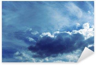 Sticker Pixerstick Fond de ciel avec des nuages