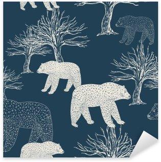 Sticker Pixerstick Fond de fête de Noël et du Nouvel An, le papier d'emballage bleu