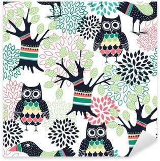 Forest seamless pattern Pixerstick Sticker