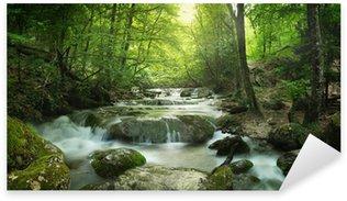 Sticker - Pixerstick forest waterfall