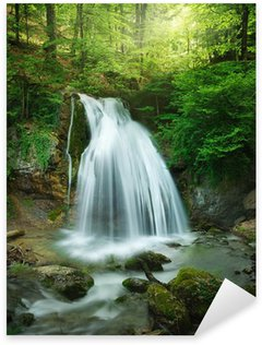 forest waterfall Sticker - Pixerstick
