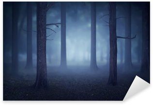 Sticker - Pixerstick Forest with lots of trees and fog