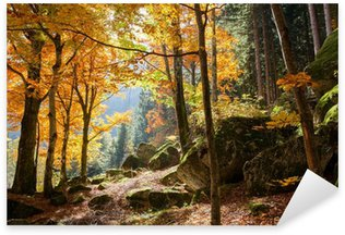 Sticker Pixerstick Forêt en automne