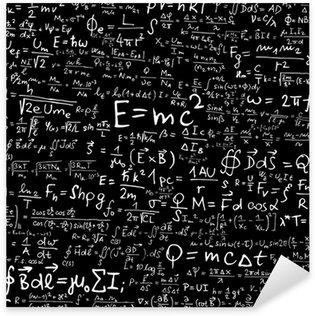 Sticker Pixerstick Formules et des équations physiques