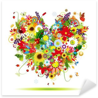 Sticker - Pixerstick Four seasons. Art heart shape for your design