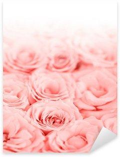 Sticker Pixerstick Frais roses roses frontière