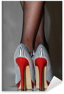 Sticker Pixerstick Frau sexy dans 5inch-High-Heels