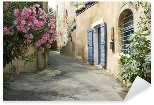 French Village Street view Flower Provence France Sticker - Pixerstick
