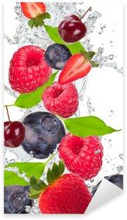 Fresh fruit in water splash Sticker - Pixerstick