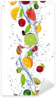 Sticker - Pixerstick Fresh fruits falling in water splash
