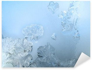 Frosty pattern at a winter window glass Sticker - Pixerstick