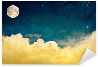 Sticker - Pixerstick Full Moon and Cloudscape