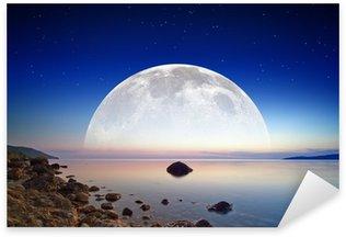 Sticker - Pixerstick Full moon rise