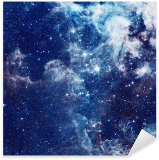 Galaxy illustration, space background with stars, nebula, cosmos clouds Sticker - Pixerstick