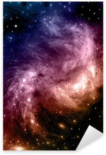 galaxy in a free space Sticker - Pixerstick