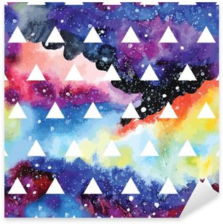 Galaxy seamless pattern. Sticker - Pixerstick