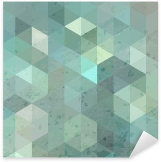 Sticker - Pixerstick Geometric retro background with grunge texture