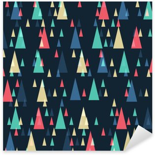 Geometric retro triangles seamless pattern Sticker - Pixerstick