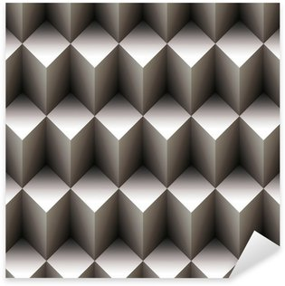 Sticker Pixerstick Geometric seamless pattern fait de cubes empilés