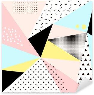 Sticker Pixerstick Géométrique conception memphis background.Retro pour invitation, carte de visite, affiches ou des bannières.