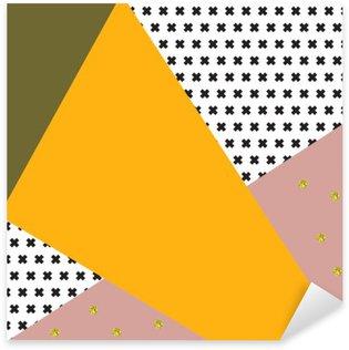 Pixerstick Sticker Geometrische achtergrond in retro-stijl.