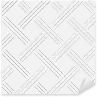 Pixerstick Sticker Geometrische achtergrond, pleinen. Line design. Naadloos patroon. Vector illustratie EPS 10
