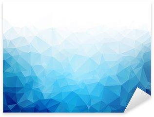 Pixerstick Sticker Geometrische blauwe ijs textuur achtergrond