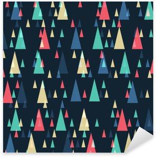 Pixerstick Sticker Geometrische retro driehoeken naadloos patroon