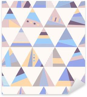 Pixerstick Sticker Geometrische retro naadloze patroon
