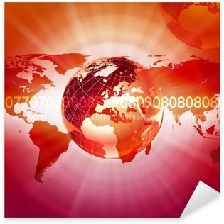 Global financial color charts and graphs Sticker - Pixerstick