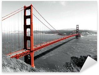 Pixerstick for All Surfaces Golden Gate Bridge Red Pop on B&W