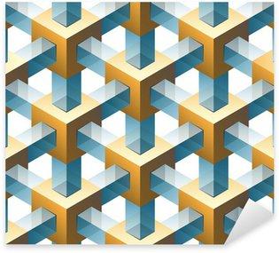 Pixerstick Sticker Goud en glas naadloos patroon