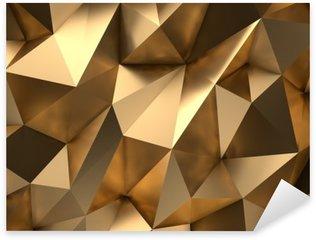 Pixerstick Sticker Gouden Samenvatting 3D-Render Achtergrond
