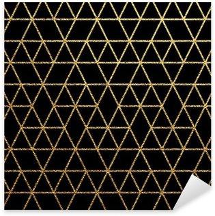 Pixerstick Sticker Gouden textuur voor abstracte vakantie achtergrond