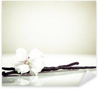 Sticker Pixerstick Gousse de vanille et fleur