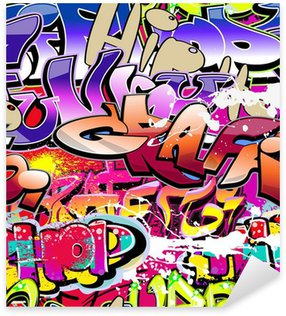 Sticker Pixerstick Graffiti de fond sans soudure. Art urbain hip-hop