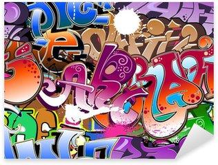 Sticker Pixerstick Graffiti fond transparent