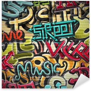 Sticker Pixerstick Graffiti fond