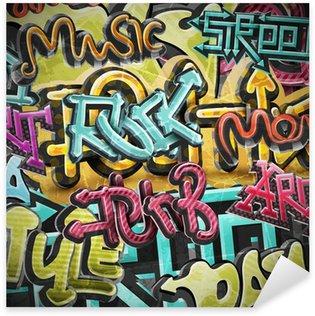 Pixerstick Sticker Graffiti grunge achtergrond