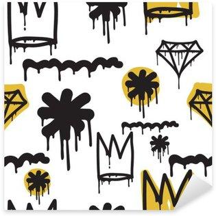 Sticker - Pixerstick Graffiti seamless pattern