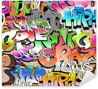 Sticker Pixerstick Graffiti seamless. Texture art urbain