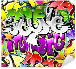 Pixerstick Sticker Graffiti Urban Art Achtergrond. Naadloze design