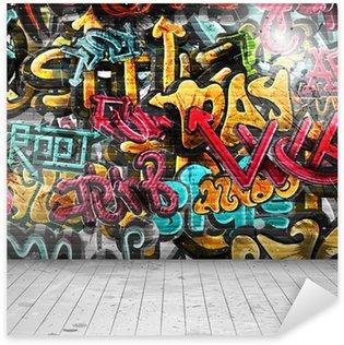 Sticker Pixerstick Graffitis sur mur