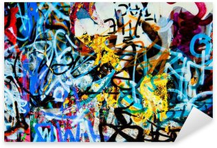 Sticker Pixerstick Grafitti Contexte