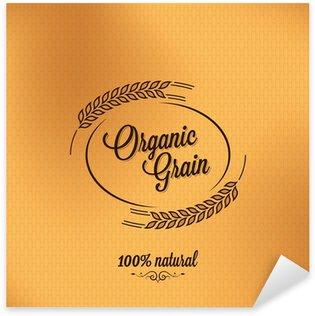 Sticker Pixerstick Grain cru organique de conception de fond