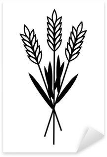Sticker Pixerstick Grain icône sur fond blanc
