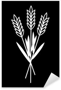 Sticker Pixerstick Grain icône sur fond noir