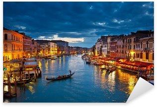 Sticker Pixerstick Grand Canal pendant la nuit, Venise