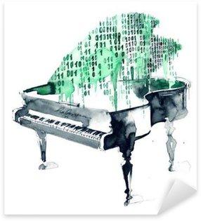 Sticker - Pixerstick grand piano