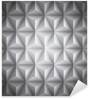 Pixerstick Sticker Gray geometrisch abstract low-poly papier achtergrond. Vector